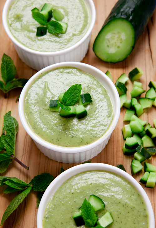 Chilled Avocado, Cucumber & Mint Soup