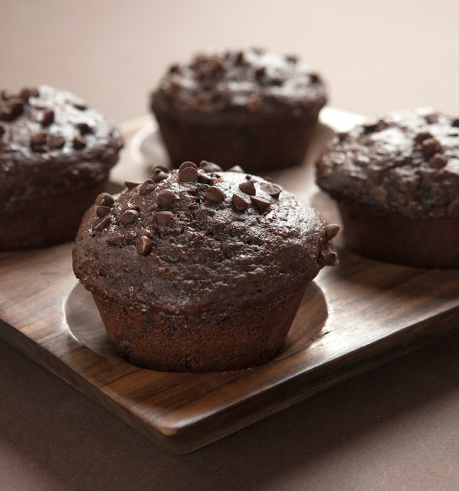 Lighter Chocolate Muffins