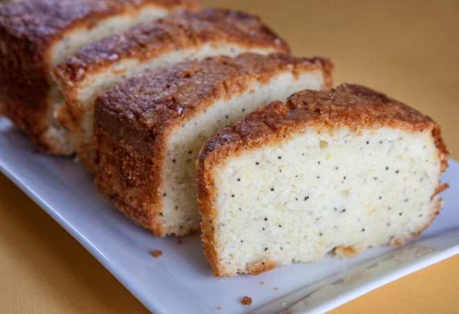 Lemon, Sour Cream & Poppy Seed Pound Cake