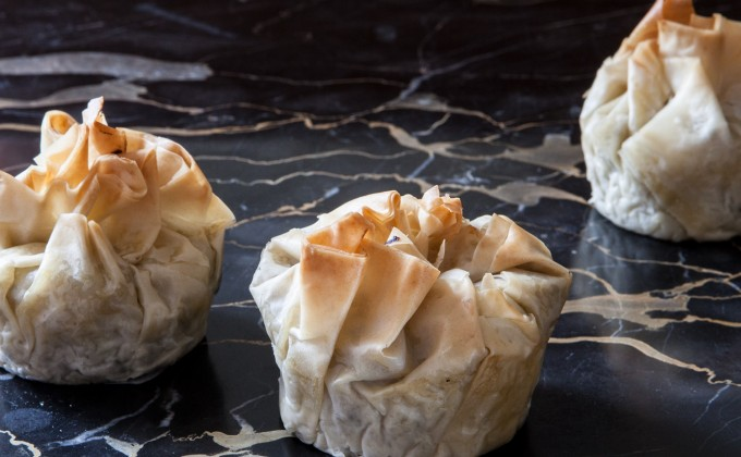 Eggplant and Feta Phyllo Packets