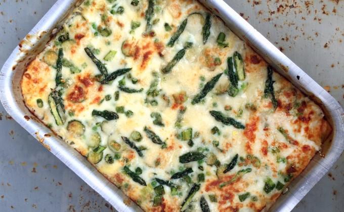 Lasagne agli asparagi e piselli