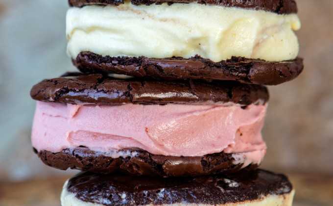 Chewy Ice Cream Sandwiches