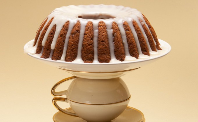 Walnut Spice Cake with Maple Glaze