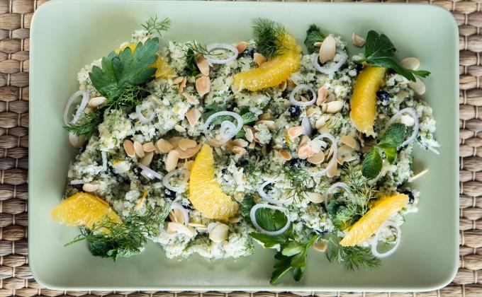 Cauliflower couscous with fresh herbs