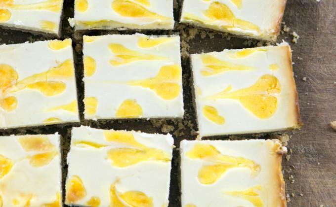 Barrette al cheesecake e limone