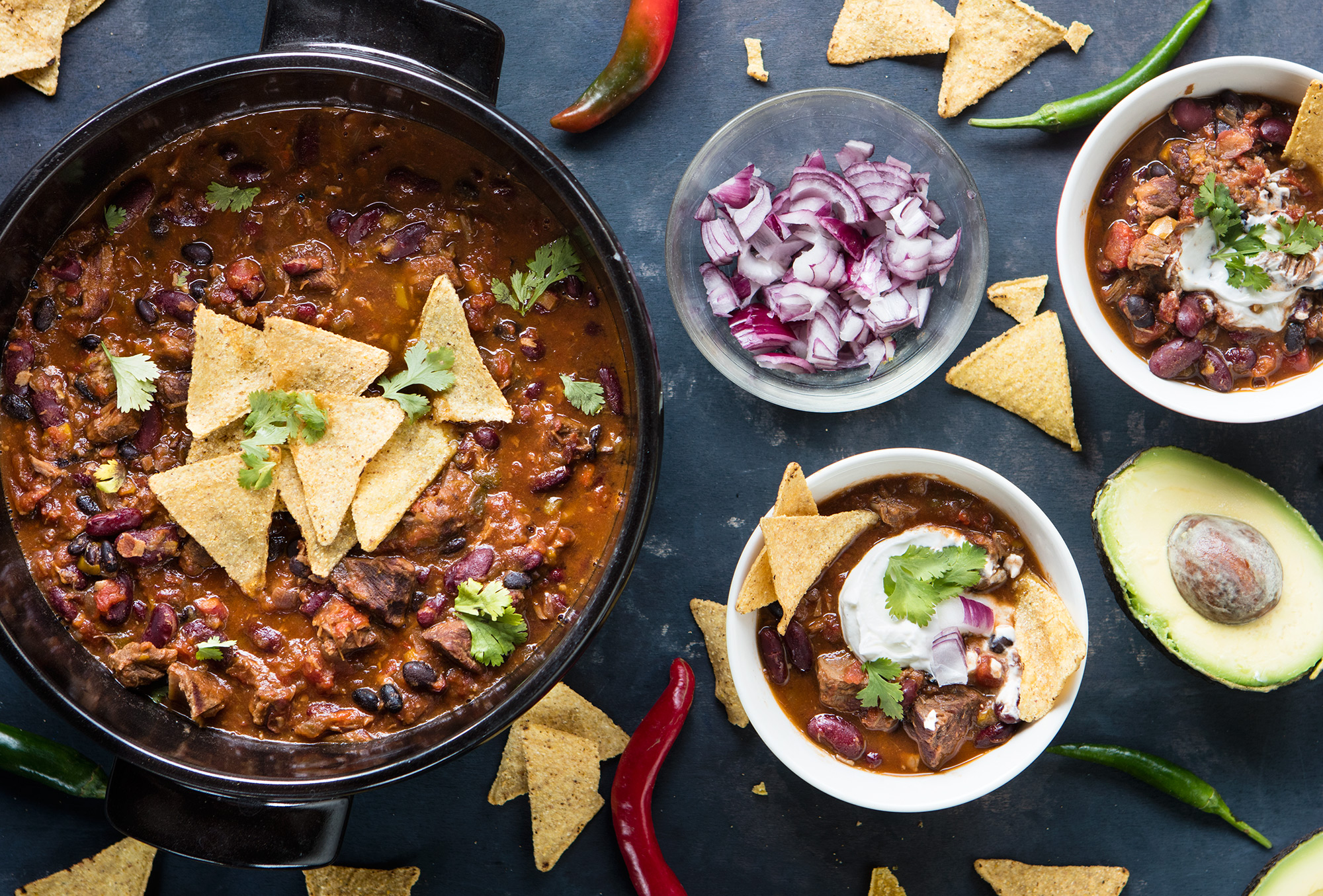 Chili con carne with beans - Un\'americana in cucina