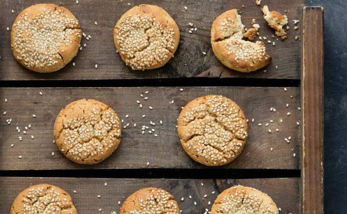 Biscotti al tahini (crema di sesamo)