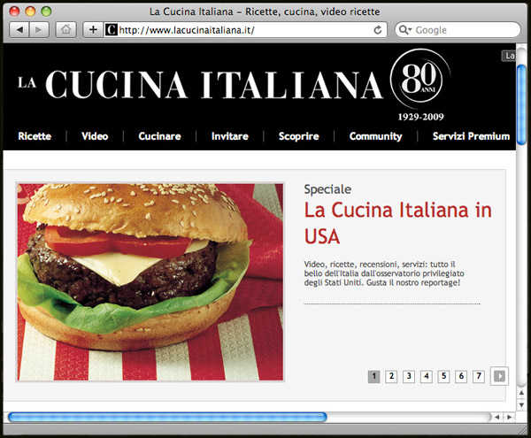La Cucina Italiana Special on American Food