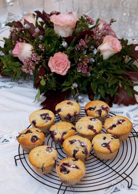 Muffin tutti frutti, e un tramonto genovese
