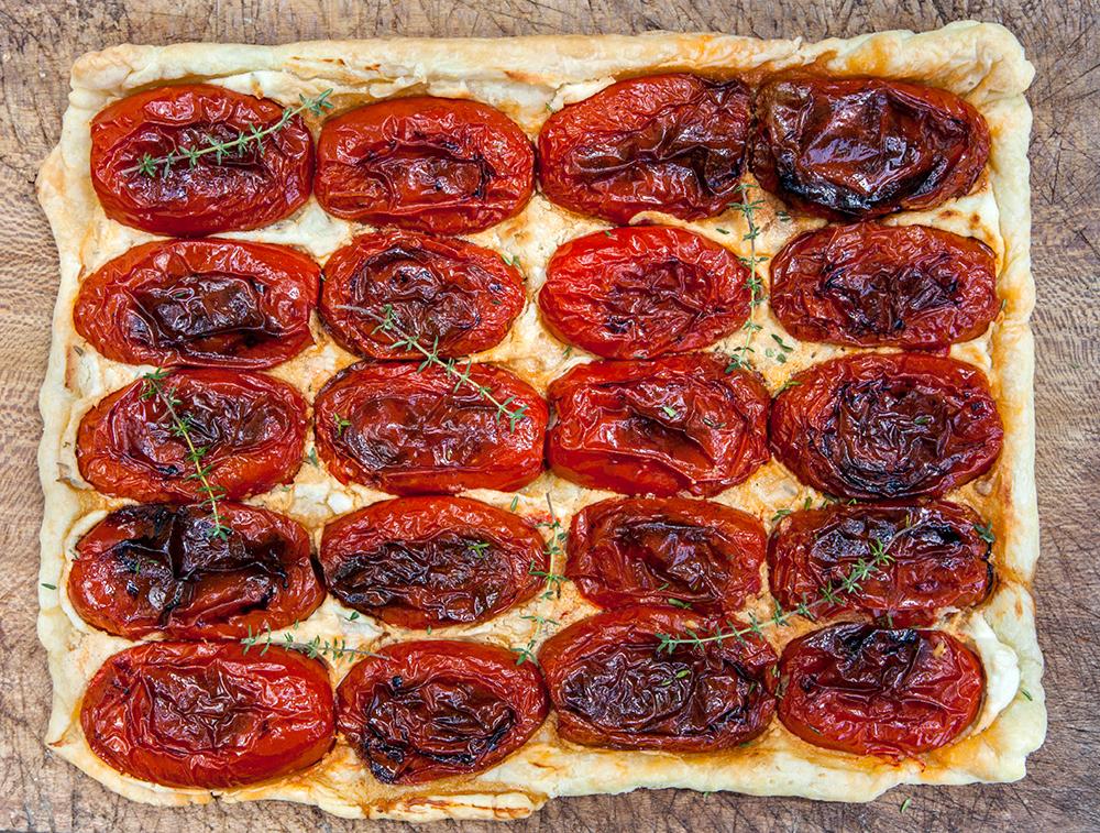 Sfoglia con pomodori arrostiti