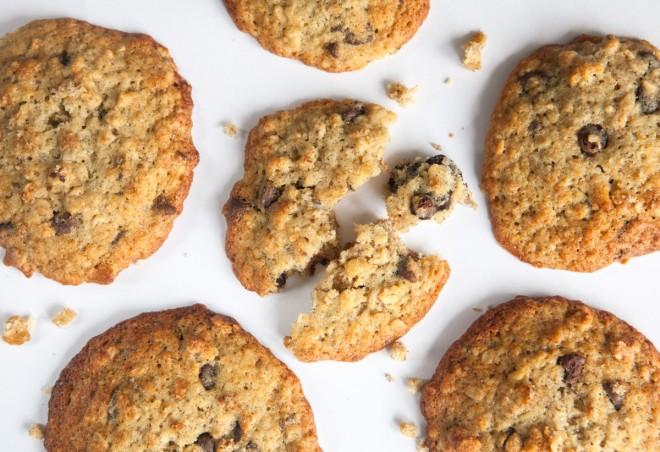 Biscotti morbidi alla banana e cioccolato