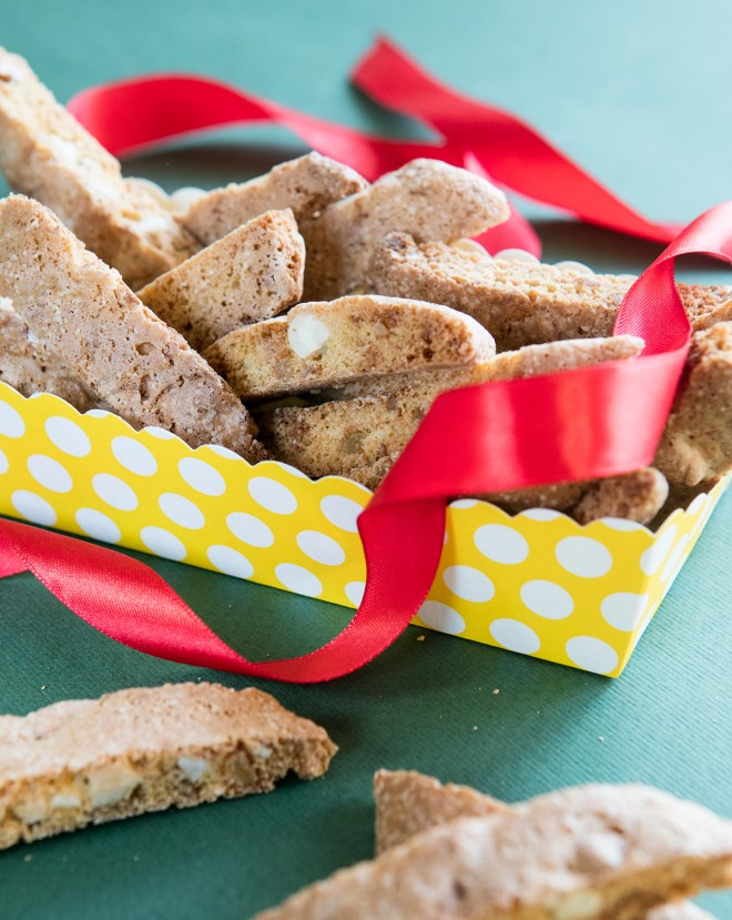 Ginger, orange and cashew biscotti