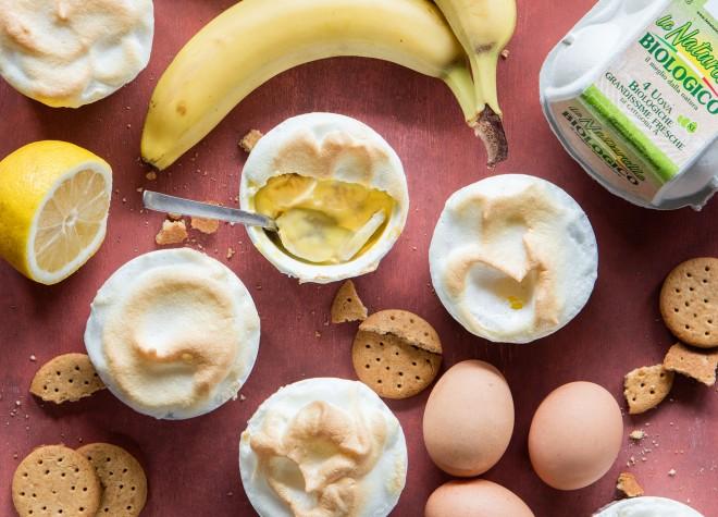 Banana meringue pudding