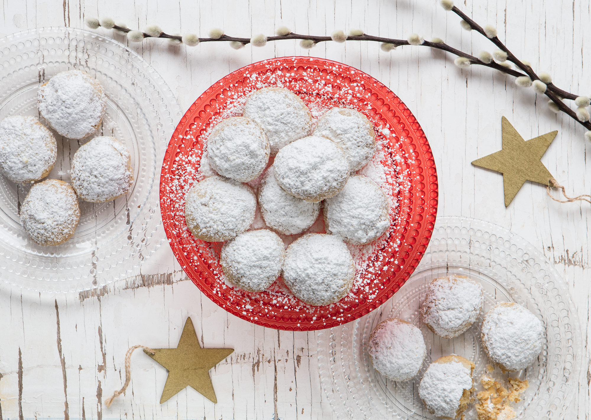 Snowball cookies: biscotti alle noci